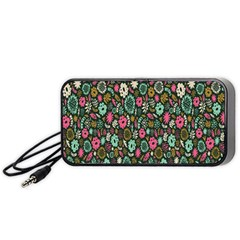 Floral Flower Flowering Rose Portable Speaker (black) by AnjaniArt