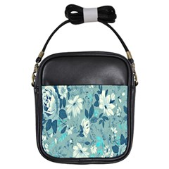 Floral Pattern Wallpaper Girls Sling Bags by AnjaniArt