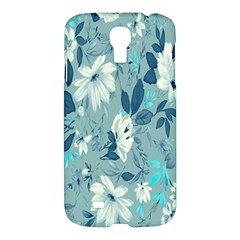 Floral Pattern Wallpaper Samsung Galaxy S4 I9500/i9505 Hardshell Case by AnjaniArt