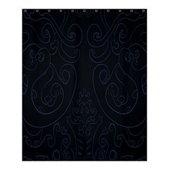 Flower Floral Blue Black Shower Curtain 60  X 72  (medium)  by AnjaniArt
