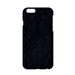 Flower Floral Blue Black Apple Iphone 6/6s Hardshell Case by AnjaniArt