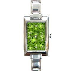 Fruit Kiwi Green Rectangle Italian Charm Watch by AnjaniArt