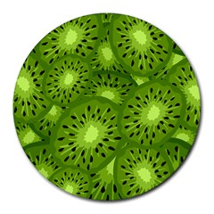 Fruit Kiwi Green Round Mousepads by AnjaniArt