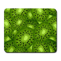 Fruit Kiwi Green Large Mousepads by AnjaniArt