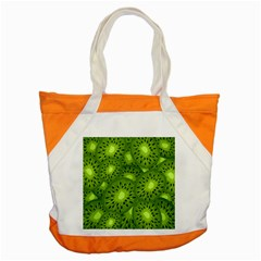 Fruit Kiwi Green Accent Tote Bag by AnjaniArt