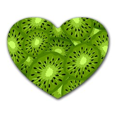 Fruit Kiwi Green Heart Mousepads by AnjaniArt