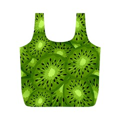 Fruit Kiwi Green Full Print Recycle Bags (m)  by AnjaniArt