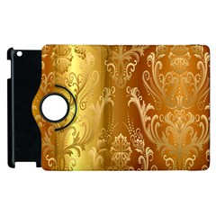 Golden Flower Vintage Gradient Resolution Apple Ipad 3/4 Flip 360 Case by AnjaniArt