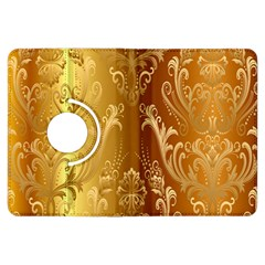 Golden Flower Vintage Gradient Resolution Kindle Fire Hdx Flip 360 Case by AnjaniArt