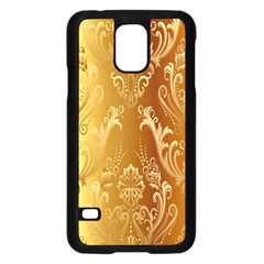 Golden Flower Vintage Gradient Resolution Samsung Galaxy S5 Case (black) by AnjaniArt
