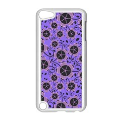 Flower Floral Purple Leaf Background Apple Ipod Touch 5 Case (white) by AnjaniArt