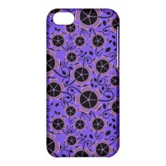 Flower Floral Purple Leaf Background Apple Iphone 5c Hardshell Case by AnjaniArt