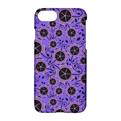 Flower Floral Purple Leaf Background Apple Iphone 7 Hardshell Case by AnjaniArt