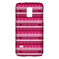 Happy Valentine Day Love Heart Pink Red Chevron Wave Galaxy S5 Mini by AnjaniArt