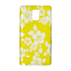 Hawaiian Flowers Samsung Galaxy Note 4 Hardshell Case by AnjaniArt
