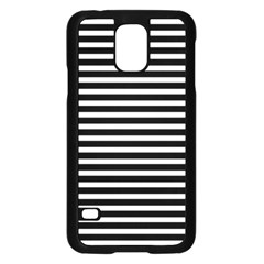 Horizontal Stripes Black Samsung Galaxy S5 Case (black)