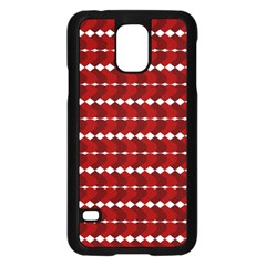 Heart Love Pink Red Wave Chevron Valentine Day Samsung Galaxy S5 Case (black) by AnjaniArt