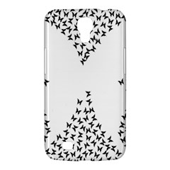 Negative Space Butterflies Black Samsung Galaxy Mega 6 3  I9200 Hardshell Case by AnjaniArt