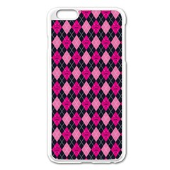 Pink Baby Showers Skull Chevron Wave Pink Purple Black Pink Apple Iphone 6 Plus/6s Plus Enamel White Case by AnjaniArt