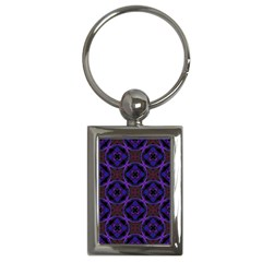 Background Colour Blue Flower Key Chains (rectangle)  by AnjaniArt
