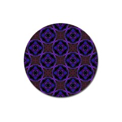 Background Colour Blue Flower Magnet 3  (round) by AnjaniArt