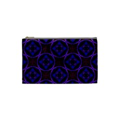 Background Colour Blue Flower Cosmetic Bag (small)  by AnjaniArt