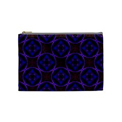 Background Colour Blue Flower Cosmetic Bag (medium)  by AnjaniArt
