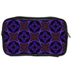 Background Colour Blue Flower Toiletries Bags 2 Side by AnjaniArt