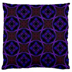 Background Colour Blue Flower Large Cushion Case (two Sides) by AnjaniArt