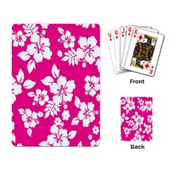 Pink Hawaiian Flower Playing Card by AnjaniArt