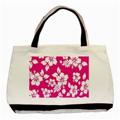 Pink Hawaiian Flower Basic Tote Bag by AnjaniArt