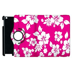 Pink Hawaiian Flower Apple Ipad 3/4 Flip 360 Case by AnjaniArt