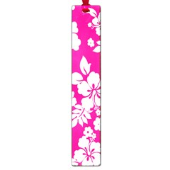 Pink Hawaiian Flower Large Book Marks by AnjaniArt