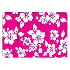 Pink Hawaiian Flower Samsung Galaxy Tab 8 9  P7300 Flip Case by AnjaniArt