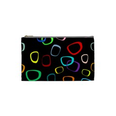 Retro Black Cosmetic Bag (small)  by AnjaniArt