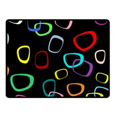 Retro Black Fleece Blanket (small) by AnjaniArt