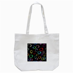 Retro Black Tote Bag (white)