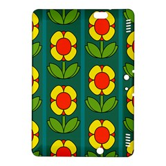 Retro Flowers Floral Rose Kindle Fire Hdx 8 9  Hardshell Case by AnjaniArt