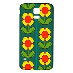 Retro Flowers Floral Rose Samsung Galaxy S5 Back Case (White) by AnjaniArt