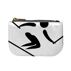 Alpine Skiing Pictogram  Mini Coin Purses by abbeyz71