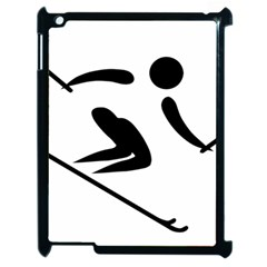 Alpine Skiing Pictogram  Apple Ipad 2 Case (black) by abbeyz71