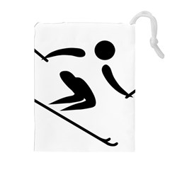 Alpine Skiing Pictogram  Drawstring Pouches (extra Large) by abbeyz71