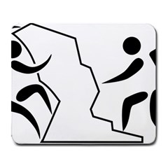 Mountaineering Climbing Pictogram  Large Mousepads by abbeyz71