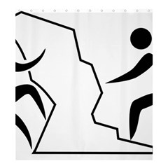 Mountaineering Climbing Pictogram  Shower Curtain 66  X 72  (large)  by abbeyz71