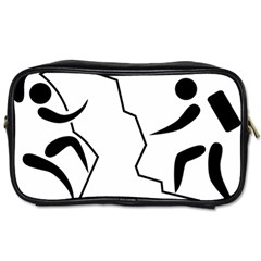 Mountaineering Climbing Pictogram  Toiletries Bags by abbeyz71