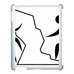 Mountaineering Climbing Pictogram  Apple Ipad 3/4 Case (white) by abbeyz71