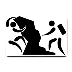 Mountaineering Climbing Pictogram  Small Doormat  by abbeyz71