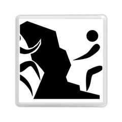 Mountaineering Climbing Pictogram  Memory Card Reader (square)  by abbeyz71