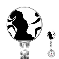 Mountaineering Climbing Pictogram  Stainless Steel Nurses Watch by abbeyz71