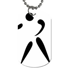 American Football Pictogram  Dog Tag (two Sides) by abbeyz71